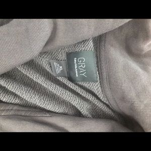 Saks Fifth Avenue grey blazer sweater xl